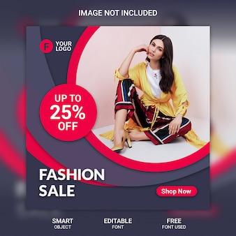 Modèle de publication pour les médias sociaux de mode