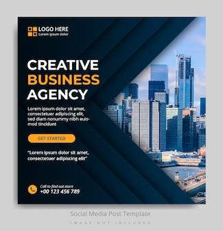 Modèle de publication sur les réseaux sociaux d'une agence de création d'entreprise