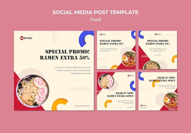 Modèle de publication sur les réseaux sociaux alimentaires
