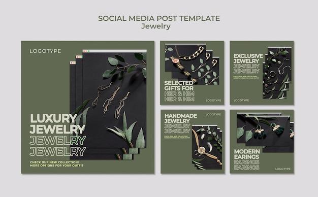 Modèle de publication sur les réseaux sociaux de bijouterie