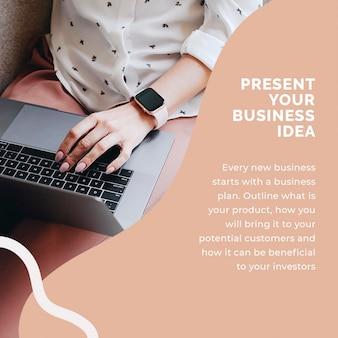 Modèle de publication sur les réseaux sociaux de démarrage psd pour entrepreneur