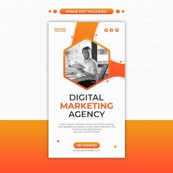 Modèle de publication sur les réseaux sociaux et d'histoire instagram d'une agence de marketing numérique