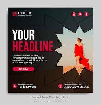 Modèle de publication sur les réseaux sociaux de mode
