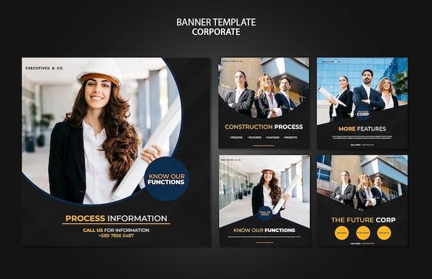 Modèle de publications d'entreprise instagram avec photo