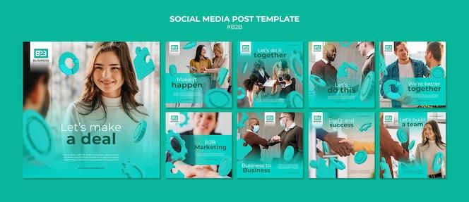 Modèle de publications instagram d'entreprise à entreprise