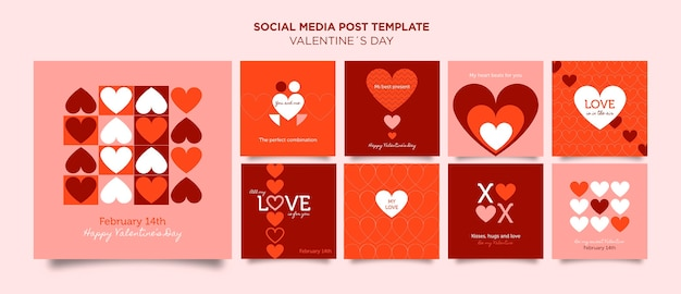 Modèle de publications instagram pour la saint-valentin