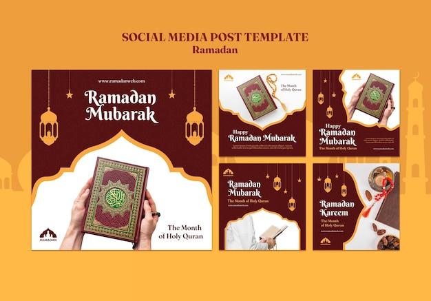 Modèle de publications sur les médias sociaux ramadan kareem