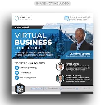 Modèle de publicité de flyer de conférence sur les médias sociaux