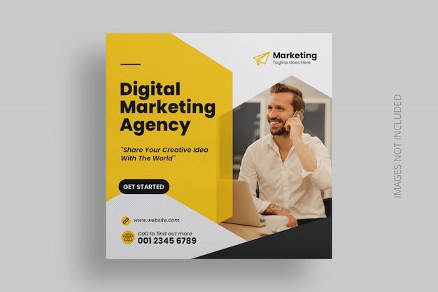 Modèle de publicité de médias sociaux de marketing numérique