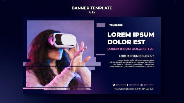 Modèle de réalité virtuelle de bannière