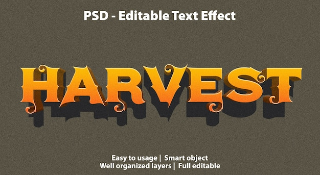 Modèle de récolte d'effet de texte