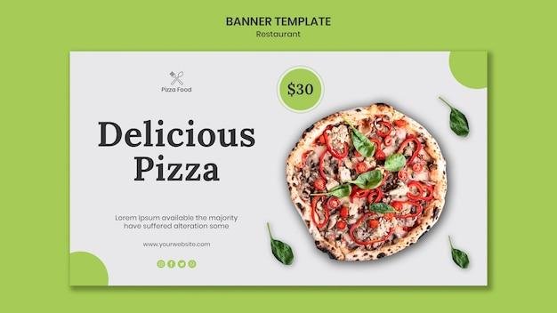 Modèle de restaurant de pizza bannière