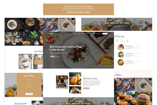 Modèle de restauration rapide, hamburgers, pizzas, salades