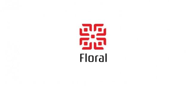 Modèle simple logo fleur pour fleuristes