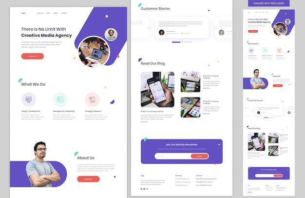 Modèle de site web d'agence de création