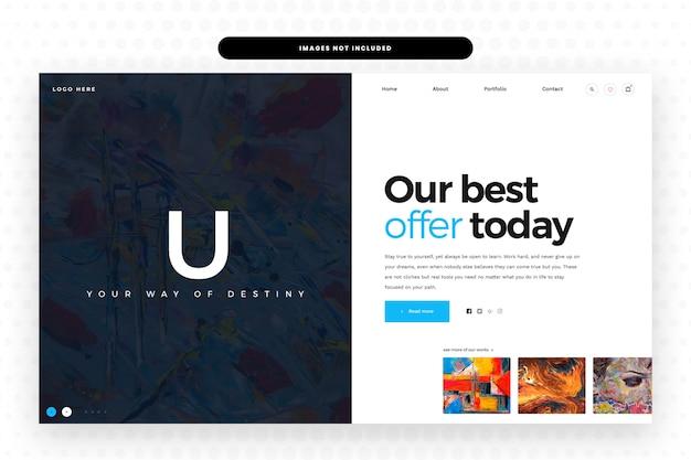 Modèle de site web artistique,