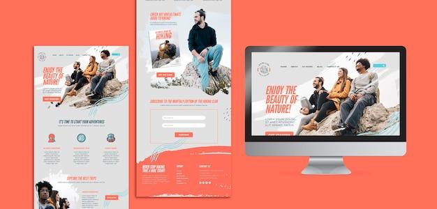 Modèle de site web de concept de randonnée