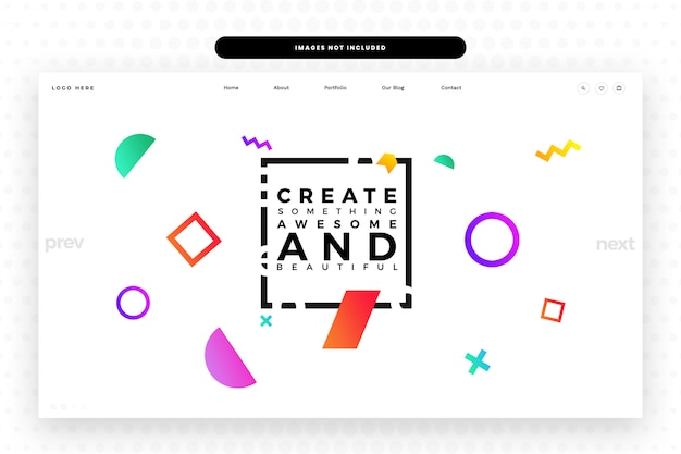 Modèle de site web de concepteur,