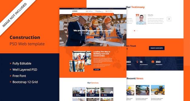 Modèle de site web de construction