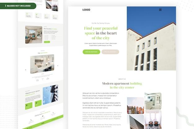 Modèle de site web d'espace paisible au cœur de la ville