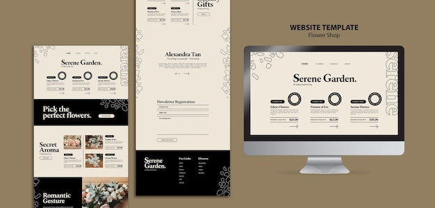 Modèle de site web de fleuriste
