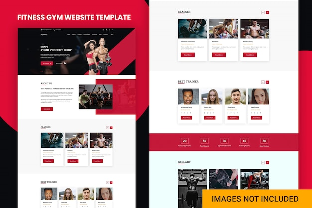 Modèle de site web de gym