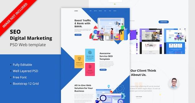 Modèle de site web de marketing numérique seo
