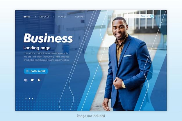 Modèle de site web de page de destination commerciale