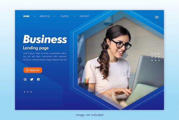 Modèle de site web de page de destination d'entreprise