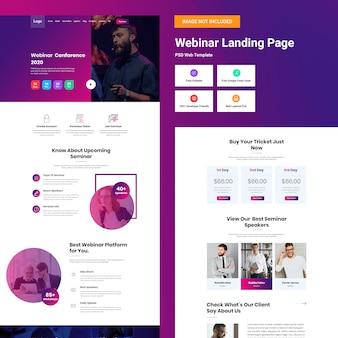 Modèle De Site Web De Webinaire PSD Premium