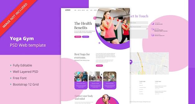 Modèle de site web de yoga gym