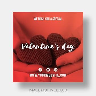 Modèle social joyeuse saint valentin