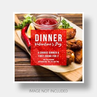 Modèle social restaurant saint valentin