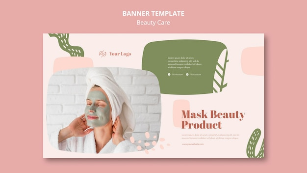 Modèle de soins de beauté de bannière