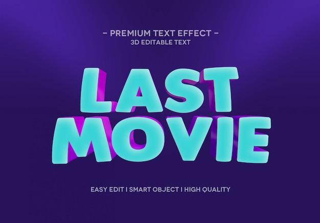 Modèle de style d'effet de texte du dernier film