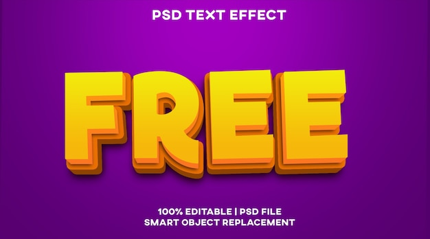 Modèle de style d'effet de texte gratuit