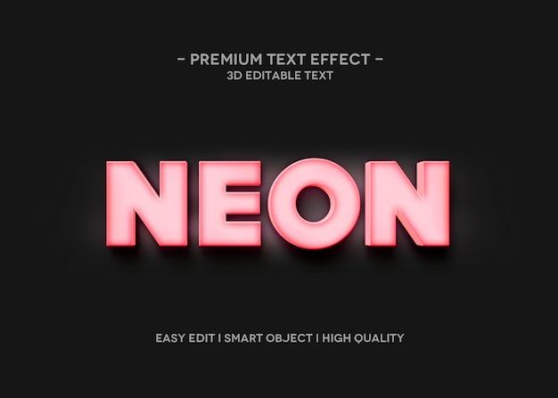 Modèle de style d'effet de texte néon