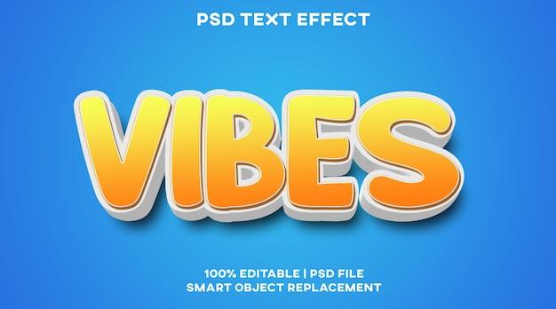 Modèle de style d'effet de texte vibes