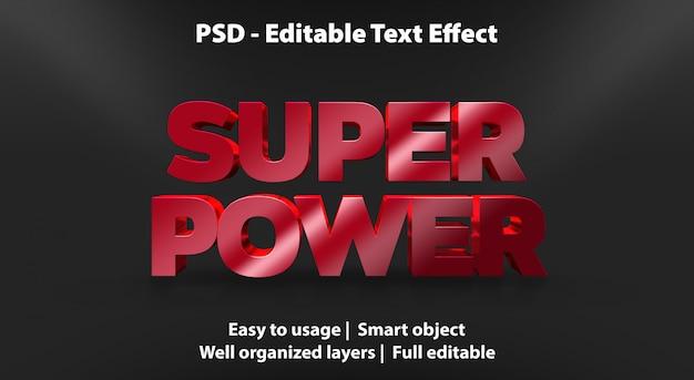 Modèle de super puissance d'effet de texte