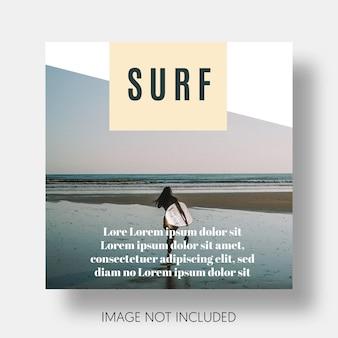 Modèle de surf moderne instagram