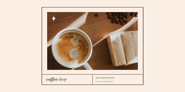Modèle d'en-tête twitter psd offre spéciale pour le marketing de la boulangerie et du café