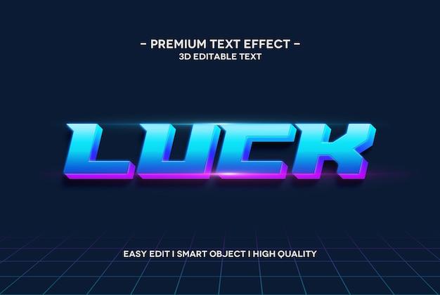 Modèle de texte effet de style de texte 3d chance