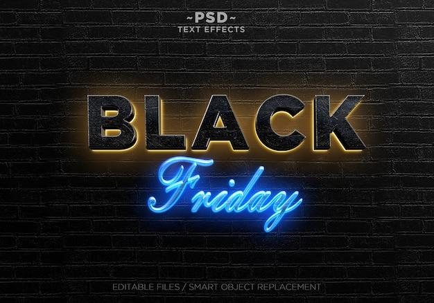 Modèle de texte d'effets du vendredi noir