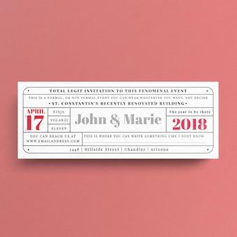 Modèle de ticket vintage