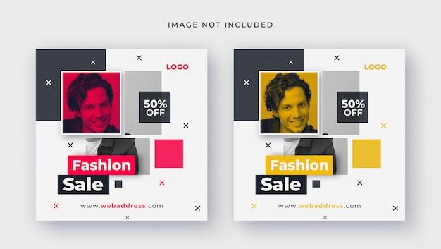 Modèle de vente de mode pour publication sur les réseaux sociaux