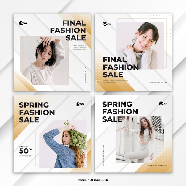 Modèle de vente de mode printemps instagram bundle post
