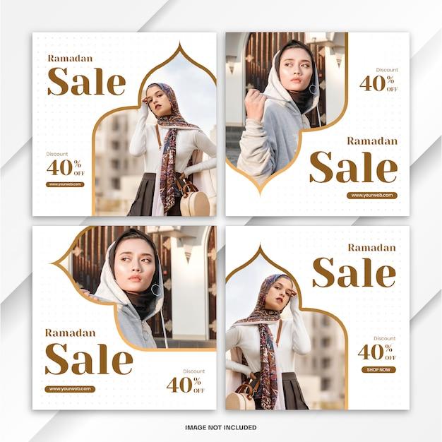 Modèle de vente ramadan instagram post bundle