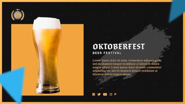 Modèle de verre à bière oktoberfest