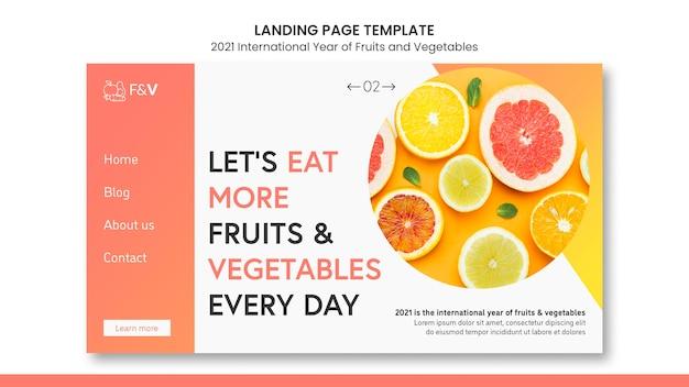 Modèle web année internationale des fruits et légumes