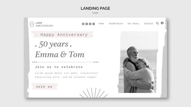 Modèle Web D'anniversaire De Couple PSD Premium